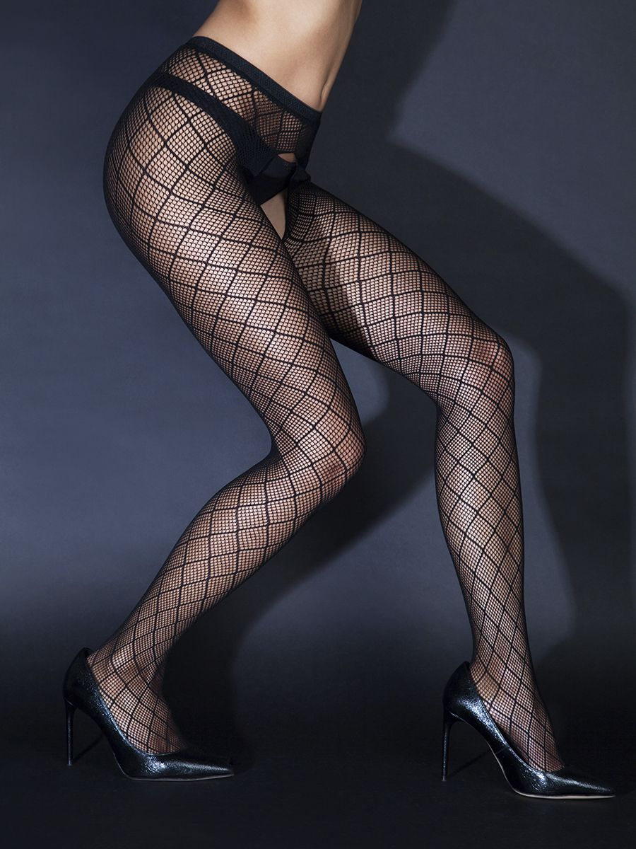 Tights with mesh pattern access (Sense)