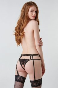 Intriguing Black Lace garter Belt (Hold on love)