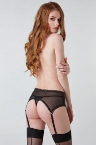 Cheeky Black garter Belt (Hold on love)