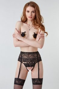 Fatal garter belt with black lace (Hold on love)