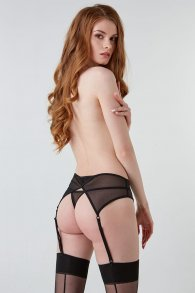Attractive black garter belt from fishnet (Hold on love)